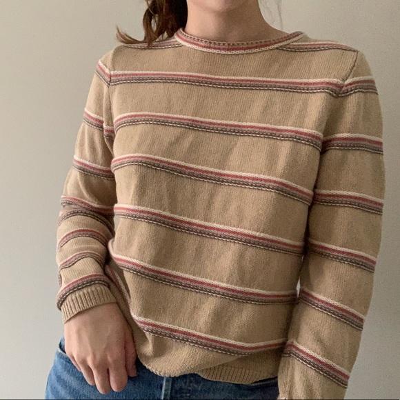 Woolrich Striped & Textured Sweater 🦔